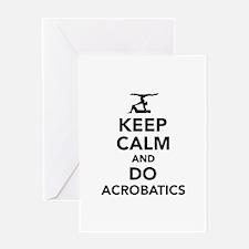 Keep calm and do Acrobatics Greeting Card