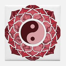 L-YY-Red Tile Coaster