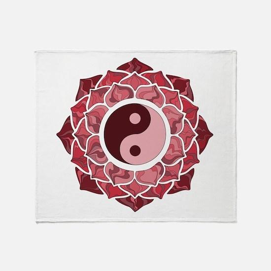 L-YY-Red Throw Blanket