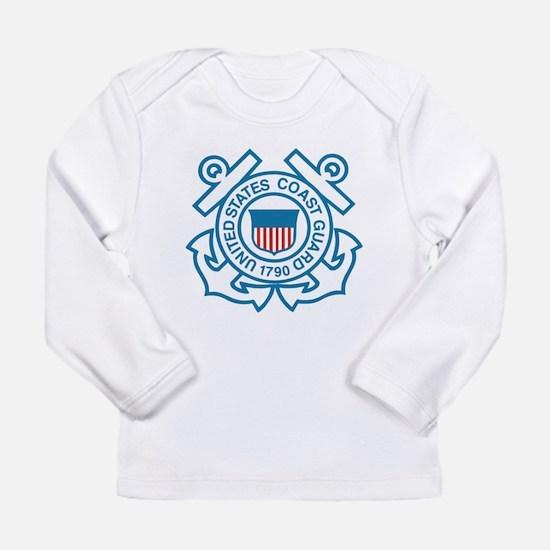 Cute Military coast guard Long Sleeve Infant T-Shirt