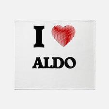 I love Aldo Throw Blanket