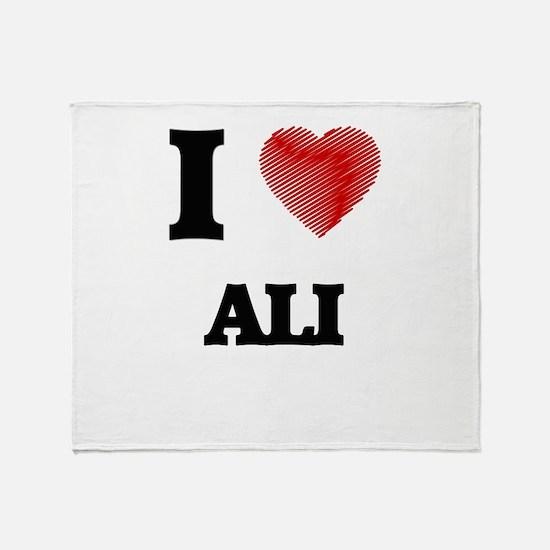 I love Ali Throw Blanket
