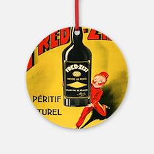 Vintage poster - Fred-Zizi Aperitif Round Ornament