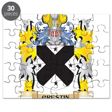 Crestin Coat of Arms - Family Crest Puzzle