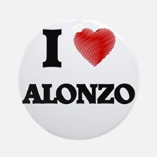 I love Alonzo Round Ornament