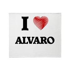 I love Alvaro Throw Blanket