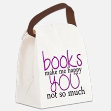 Cute Book lover Canvas Lunch Bag