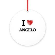 I love Angelo Round Ornament