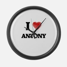 I love Antony Large Wall Clock