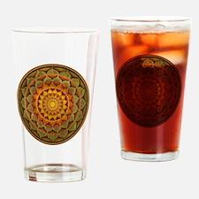 Cute Buddhist art peace Drinking Glass