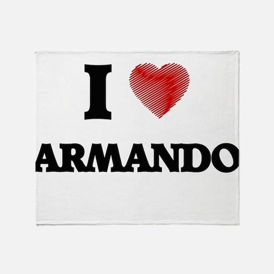 I love Armando Throw Blanket