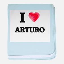 I love Arturo baby blanket