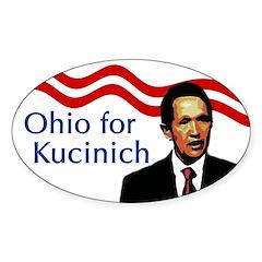 Ohio for Kucinich oval bumper sticker