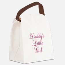 Daddys Little Girl in Pink Canvas Lunch Bag