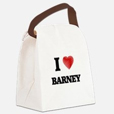 I love Barney Canvas Lunch Bag