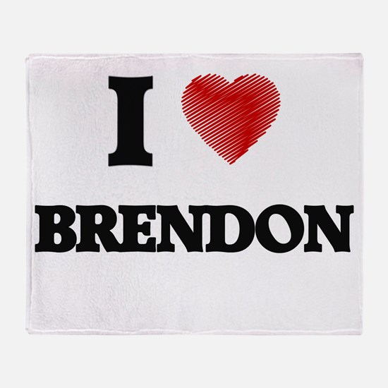 I love Brendon Throw Blanket