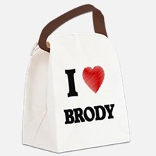 Cute Brody Canvas Lunch Bag