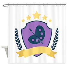 Fine Arts Shield Shower Curtain