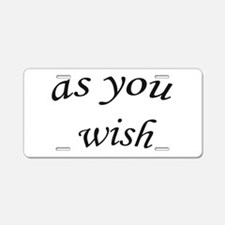Cute Princess bride Aluminum License Plate
