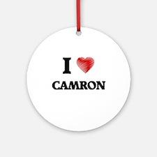 I love Camron Round Ornament