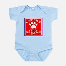 Keep Calm And Sphynx Cat Infant Bodysuit
