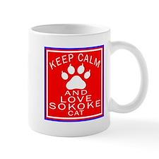 Keep Calm And Sokoke Cat Mug