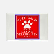 Keep Calm And Selkirk Rex Cat Rectangle Magnet
