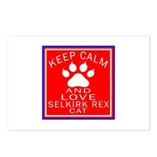 Keep Calm And Selkirk Rex Postcards (Package of 8)