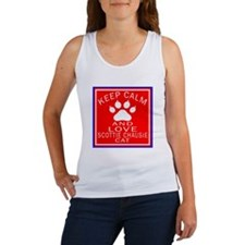 Keep Calm And Scottie chausie Cat Women's Tank Top