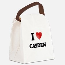 I love Cayden Canvas Lunch Bag