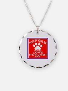 Keep Calm And Punjabi Cat Necklace
