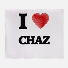 I love Chaz Throw Blanket