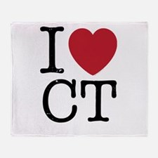 I Love CT Connecticut Throw Blanket