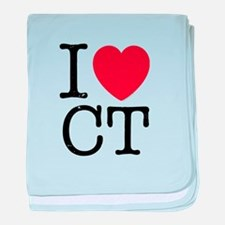 I Love CT Connecticut baby blanket
