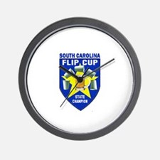 South Carolina Flip Cup State Wall Clock