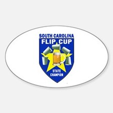 South Carolina Flip Cup State Oval Decal