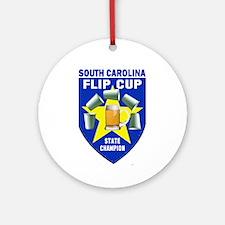 South Carolina Flip Cup State Ornament (Round)