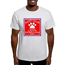 Keep Calm And Nebelung Cat T-Shirt
