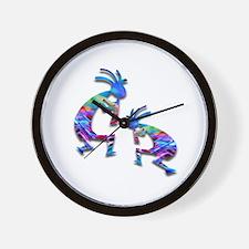 Blue Wave Kokopelli Wall Clock