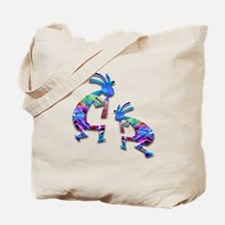 Blue Wave Kokopelli Tote Bag