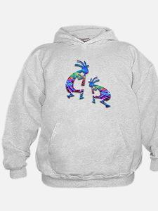 Blue Wave Kokopelli Hoodie