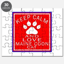 Keep Calm And Maine Coon Cat Puzzle