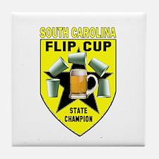South Carolina Flip Cup State Tile Coaster