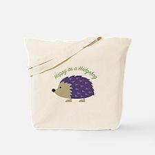 Happy As Hedgehog Tote Bag