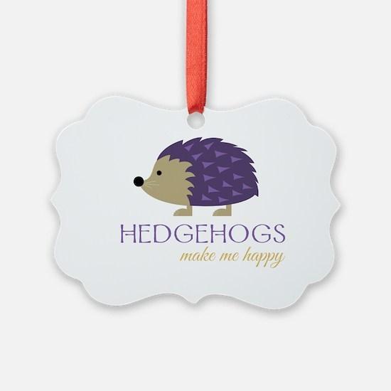 Happy Hedgehogs Ornament