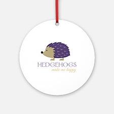 Happy Hedgehogs Round Ornament