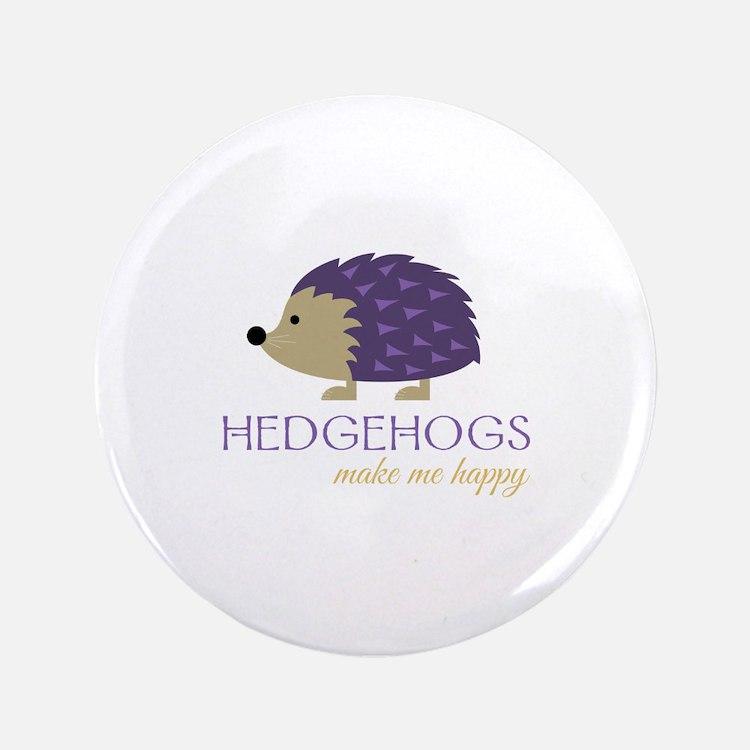 Happy Hedgehogs Button