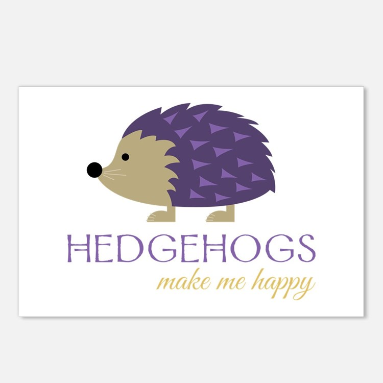 Happy Hedgehogs Postcards (Package of 8)