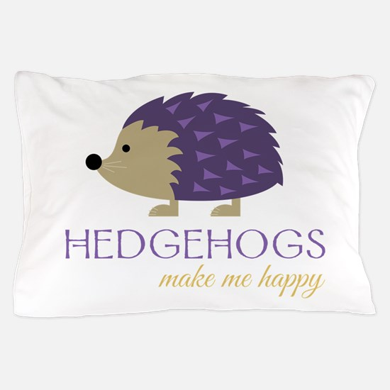 Happy Hedgehogs Pillow Case