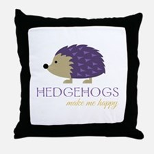 Happy Hedgehogs Throw Pillow